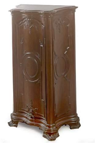 A Portuguese mahogany chest of drawers circa 1800