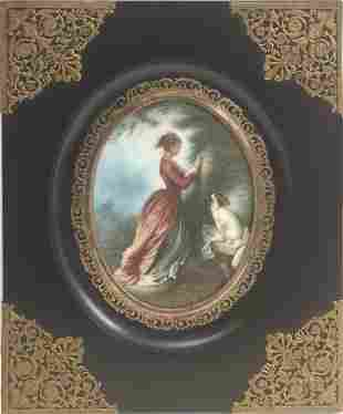 A 19th century French portrait miniature