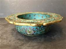 OLD Chinese Cloisonne Censer, Qianlong mark and period