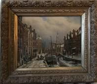 Oene Romkes de Jongh S (Dutch 1812-1896) Oil Painting,