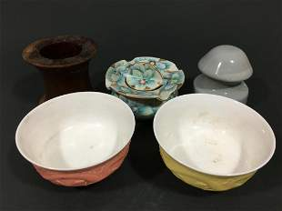 Pair Chinese Bowls and Other items