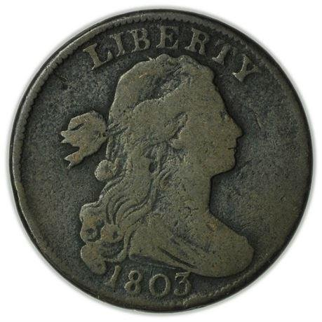 1803 Large Fraction Small Date Draped Bust Large Cent