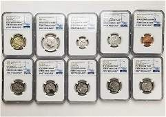 10 Coin Lot 2017S Enhanced Finish Proof Set NGC SP70