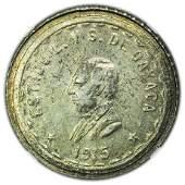MEXICO, Oaxaca, 1915 Two Pesos Silver NGC MS-61