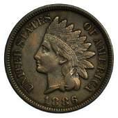 1886 Type 2 Indian Head Cent - High Grade