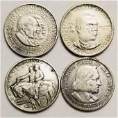 Group of 4 Commemorative Half Dollars