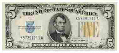 Fr.2307 1934-A $5 'North Africa' Silver Certificate