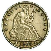 1854-O Arrows Seated Liberty Half Dollar - High Grade