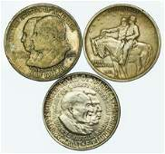 Group of 3 Commemorative Silver Half Dollars