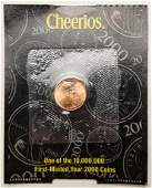 2000 Lincoln Penny Cheerios One of Ten Million First