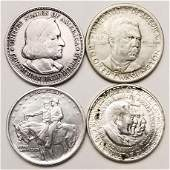 Group of 4 Silver Commemorative Half Dollars - High
