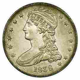 1838 Capped Bust Half Dollar Reeded Edge - High Grade