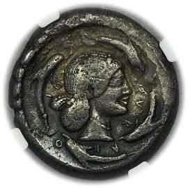 SICILY, Syracuse. C.485-465 BC AR Tetradrachm NGC