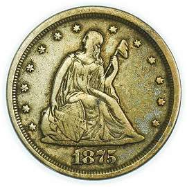 1875-S Twenty Cent Piece - High Grade