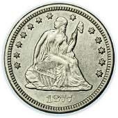 1877-CC Liberty Seated Quarter - High Grade