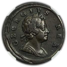 GREAT BRITAIN. 1717 Half Penny NGC XF-45 BN
