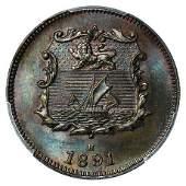 GREAT BRITAIN, North Borneo. 1891-H Half Cent PCGS