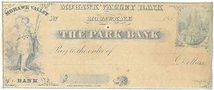 185_New York Mohawk Park Bank Check