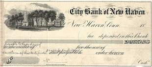 18_ Connecticut City Bank of New Haven Check