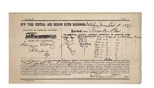 1879 New York Central & Hudson River Railroad Transport