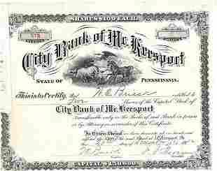 1912 City Bank of Mc. Keesport Pennsylvania December