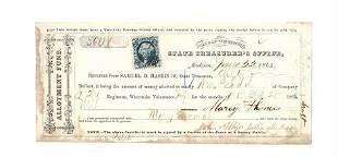 1864 Treasury Warrant 20th Volunteer Infantry Regiment