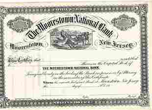 18_ The Moorestown National Bank Stock Certificate