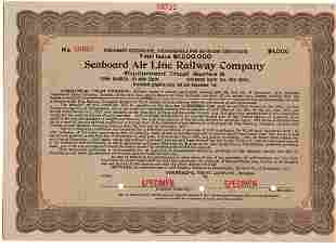 1917 Seaboard Air Line Railway Company Specimen
