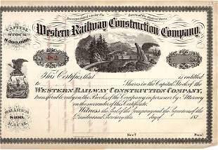 187_ Western Railway Construction Company Stock