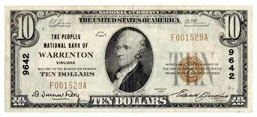 Fr.1801-1 1928 $10 National Bank Note Peoples National