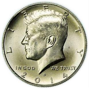 2014-D Kennedy Half Dollar PCGS MS-63 Silver 50th