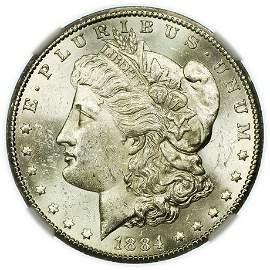 1884-CC Morgan Dollar NGC MS-61