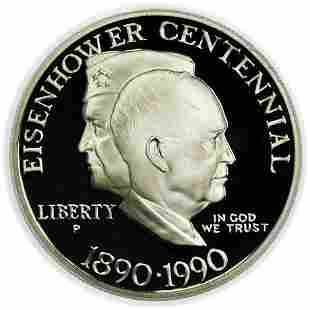 1990-P Commemorative Eisenhower Dollar PCGS PR-69 DCAM