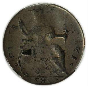 1787 Connecticut Copper Brockage Error PCGS G-6