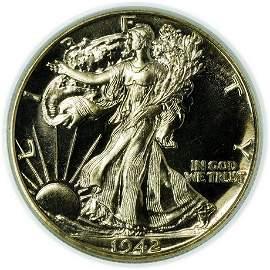 1942 Proof Walking Liberty Half Dollar PCGS PR-64