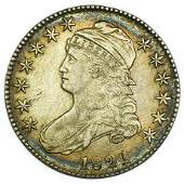1821 Capped Bust Half Dollar Overton 104a. R2.