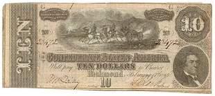 Type 68 1864 Confederate $10 Note