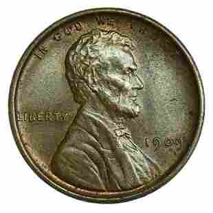 1909 VDB Lincoln Wheat Cent - Toned