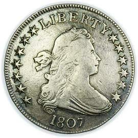 1807 Draped Bust Half Dollar - Overton 105. R5.