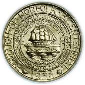 1936 Norfolk Commemorative Half Dollar PCGS MS-66