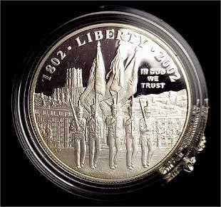 2002 Proof Commemorative US Military Academy