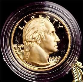 1999 Proof Commemorative George Washington $5 Gold OGP