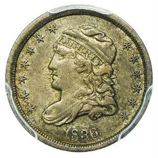 1836 Capped Bust Half Dime Large 5C PCGS XF-45