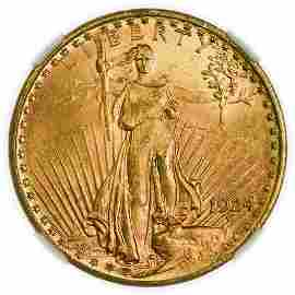 1924 $20 St. Gaudens Gold Double Eagle NGC MS-65