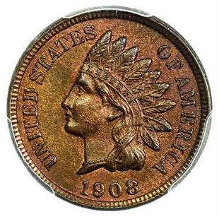 1908 Indian Head Cent PCGS MS-64 RB