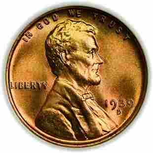 1939-D Lincoln Wheat Cent NGC MS-67 RD