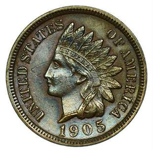 1905 Indian Head Cent - Toned