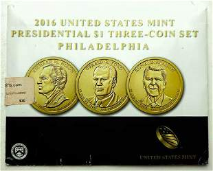 2016 United States Mint Presidential $1 Three Coin Set