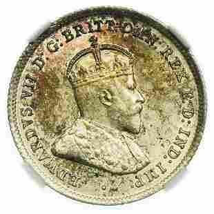 AUSTRALIA. 1910 Sixpence NGC MS-62