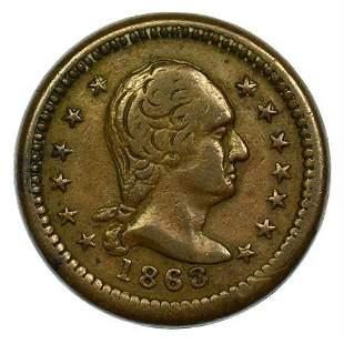 1863 Civil War Token Washington Union Forever